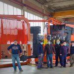 team rotoplastic macchina per stampaggio rotazionale carosello